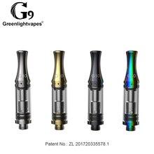 X5 Greenlightvapes G10 1.0 ml Cartucho Vazio óleo CBD Vape Tanque 510 Atomizador Vaporizador De Cerâmica para Pré-aqueça Caixa de bateria Mod caneta