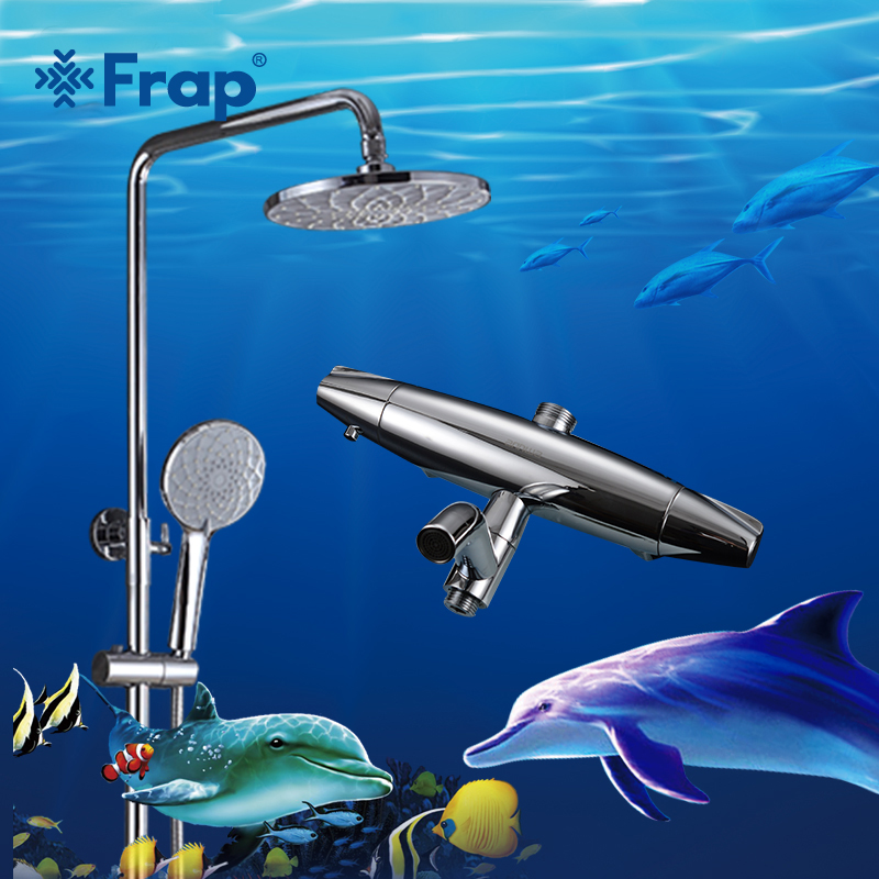 Frap 2018 new Thermostatic shower faucet system Mixing Valve Thermostatic Faucets Shower set Bathroom Combination Water Mixer bathroom thermostatic shower faucet shower head set wall mount shower faucet mixer brass shower faucet thermostatic mixing valve