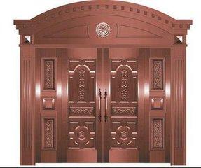 Bronze Door Security Copper Entry Doors Antique Copper Retro Door Double Gate Entry Doors H-c1