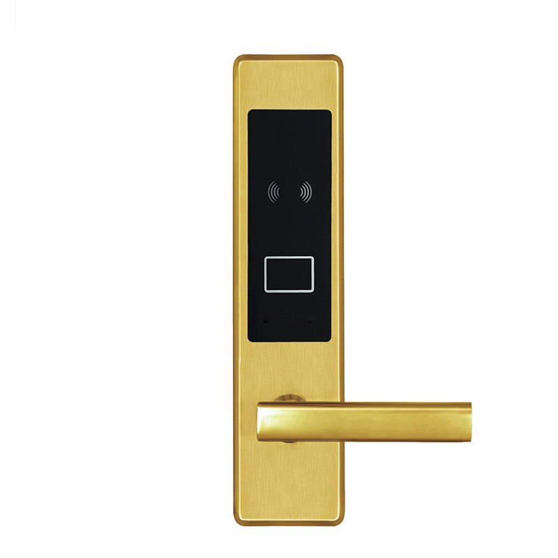Electronic RFID Card Door Lock with Key Electric Lock For Home Hotel Apartment Office Smart Entry Latch with Deadbolt L16020SG