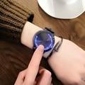 2017 Творческий минималистский кожа водонепроницаемый Сенсорный экран LED watch мужчин и женщин любителей смотреть smart electronics часы 046