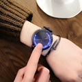 2017 Creative minimalist leather waterproof Touch screen LED watch men and women lovers watch smart electronics watches 046