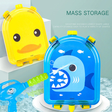 3 colors Pressure Backpack toy water gun summer party toys High capacity Boy&Girl Beach pull-out spray birthday gifts