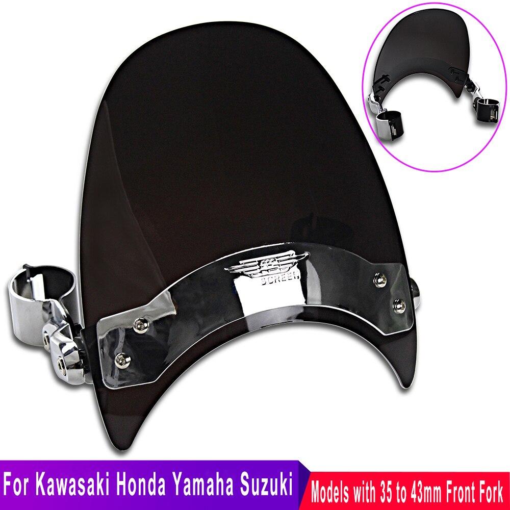 Pára Brisas Da Motocicleta para Honda Shadow Yamaha Kawasaki Vulcan Suzuki Intruder Parabrisas Moto acessorios de para Bicicleta