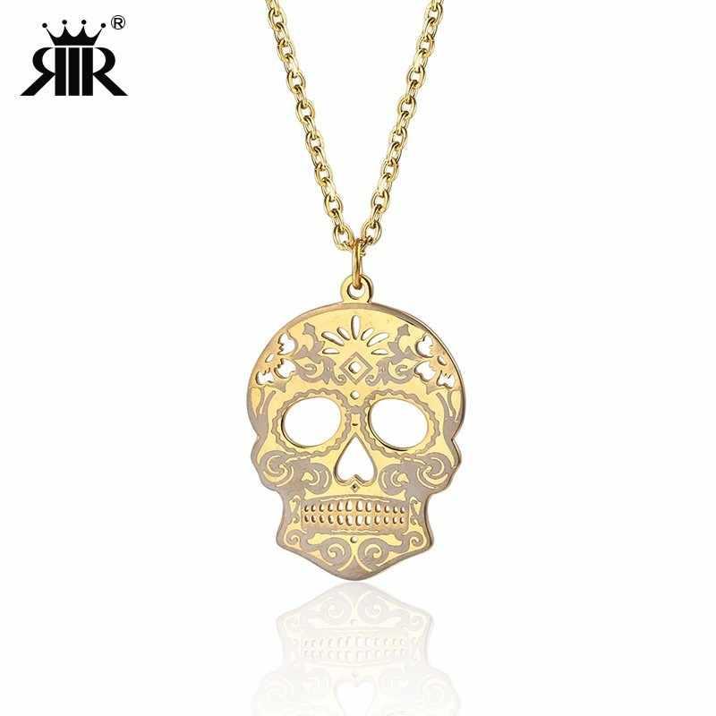 2ee50d0ff RIR Sugar Skull Necklace Skull Statement Necklace Day Of The Dead Dia De  Los Muertos Mexican
