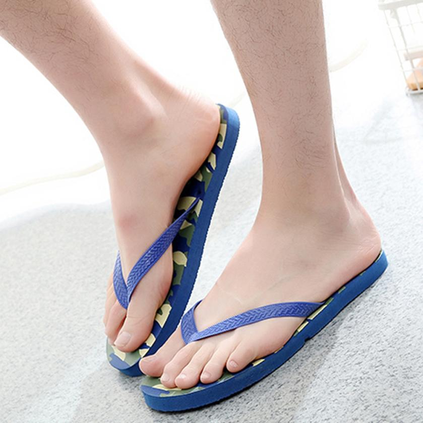 2018 men slippers beach shoes summer Casual Camouflage Anti-Skidding Sandals Slipper Beach Shoes 5.10