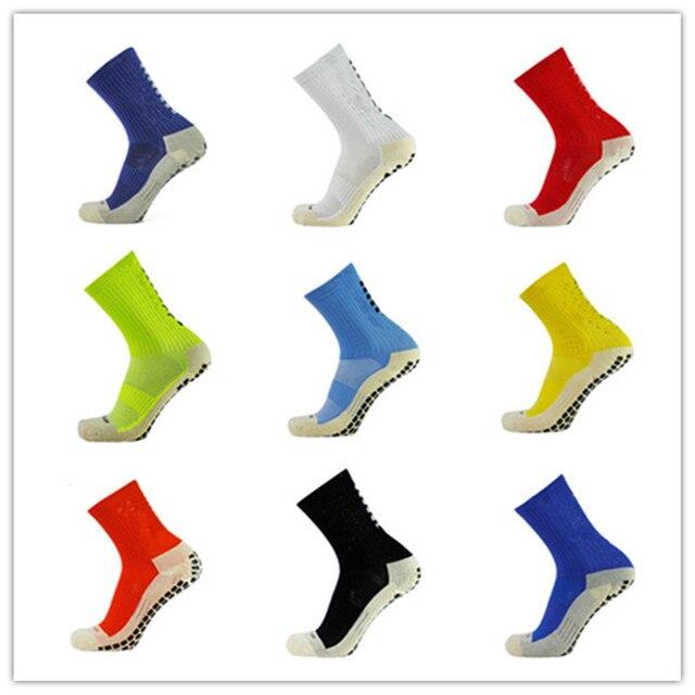 חדש כדורגל גרביים אנטי סליפ גרבי כדורגל גרבי ספורט גברים טוב Calcetines אותו הסוג כמו את Trusox כותנה באיכות 9 צבעים