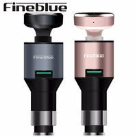 5pcs Fineblue F 458 Bluetooth Headphone Mini Headset Car Charger 2 In 1 Wireless Noise Cancelling