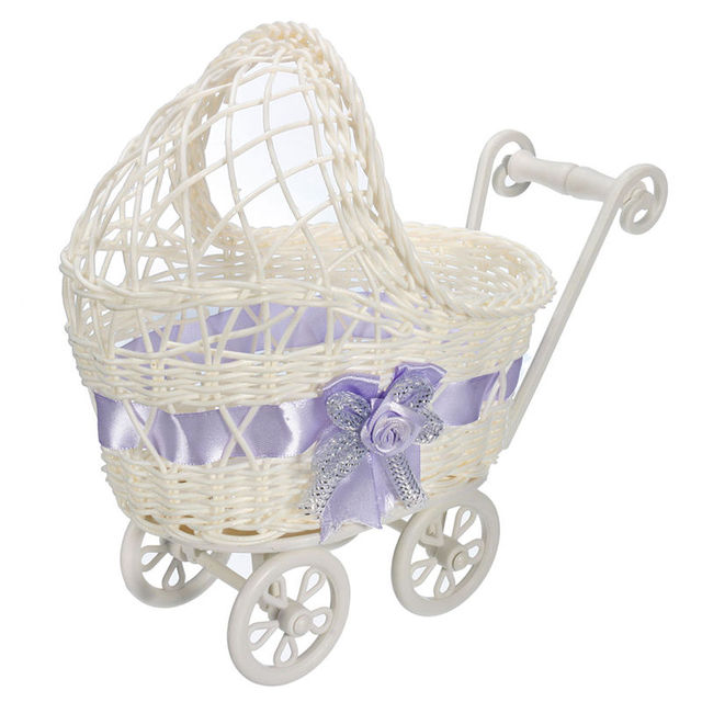Brand New Cute Design Wicker Universal Pram Basket Baby Shower Party