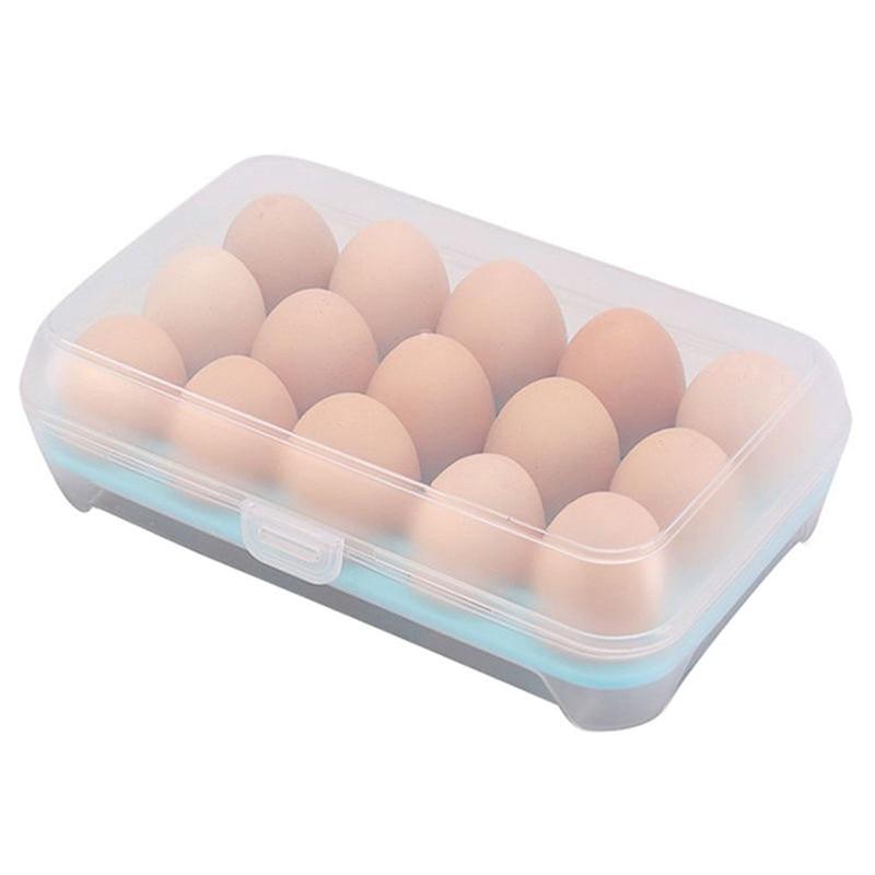 Plastic refrigerator egg storage box case 15 eggs holder food storage container in bags - Boite plastique cuisine ...