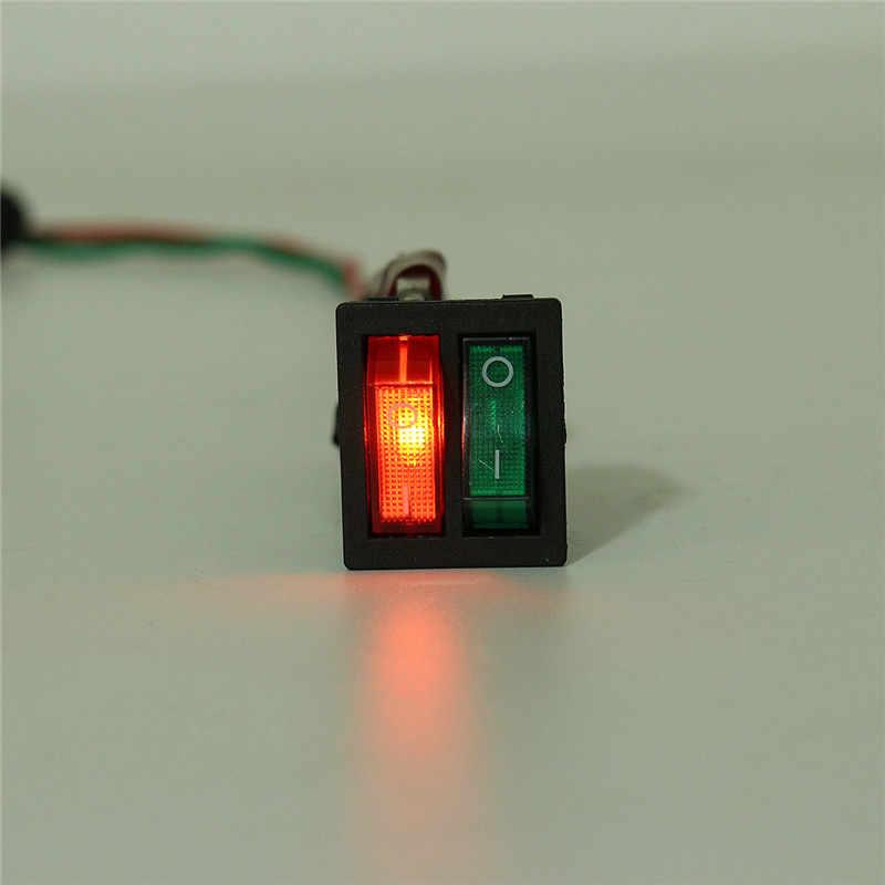 Interrupteur à bascule Double 6PIN interrupteur marche-arrêt à bascule pour bateau avec lumière verte rouge 32mm X 25mm X 35mm