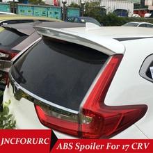 JNCFORURC ABS Rear Trunk Spoilers Wing For HONDA CRV 2017 SUV Roof Spoilers Primer ,Black ,White Colors Rear Roof Car Spoilers