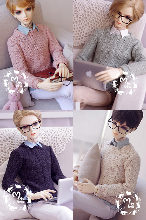 Fashion sweater  For BJD 1/3  1/4 UNCLE Doll Clothes Accessories 4 colors fashion black turtleneck sweater for bjd 1 3 sd17 uncle doll clothes accessories