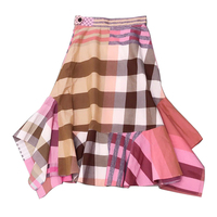 2019 новые дизайнерские вечерние повседневные Ретро женские хлопковые клетчатые юбки средней длины с принтом стандартная Юбка элегантная юб