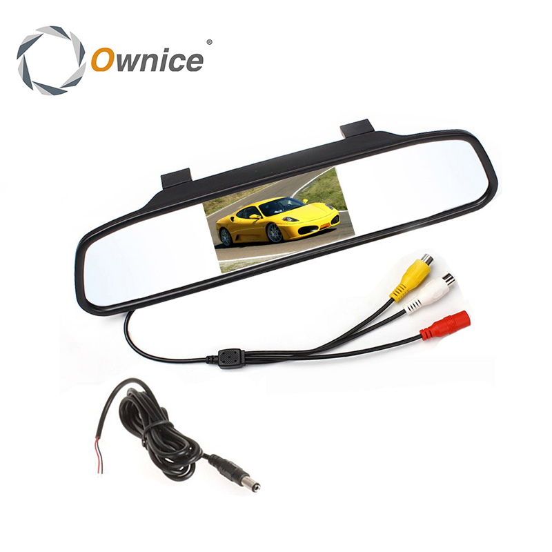 Ownice Big Sale 480x272 4 3 Color Digital TFT LCD Screen Car Rear View Mirror Monitor