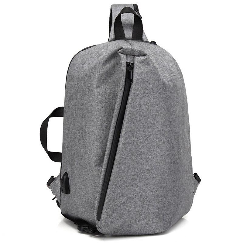 New USB Charging Backpacks Men Mochila Masculina Korean Bagpack One Shoulder Strap Anti Theft Backpack Women Crossbody Chest Bag