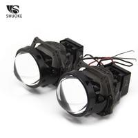 new arrival SHUOKE New Arrival Bi-LED Projector Lens Light 3.0 Inch 12V 3A 37W 6000K 7000LM 50000h Life 2 PCS  Easy to Install Bi Projector (2)