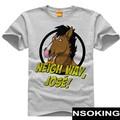 New BoJack Horseman T-shirt  horse T shirt Fashion Men cotton base shirt Tees