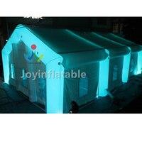 20 х 10 х 6 м белый светодиодный светильник надувные вечерние дисплей палатки с вентилятором для семьи распродажа