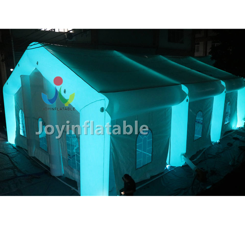 20x10x6m White Led Lighting Inflatable Party Display Tent With Blower For Family On Sale