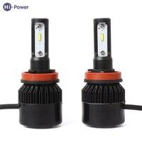 Hi Power 2Pcs Set Universal Car Headlight Kit S2 COB 72W 6500K 8000LM H1 H3 H4
