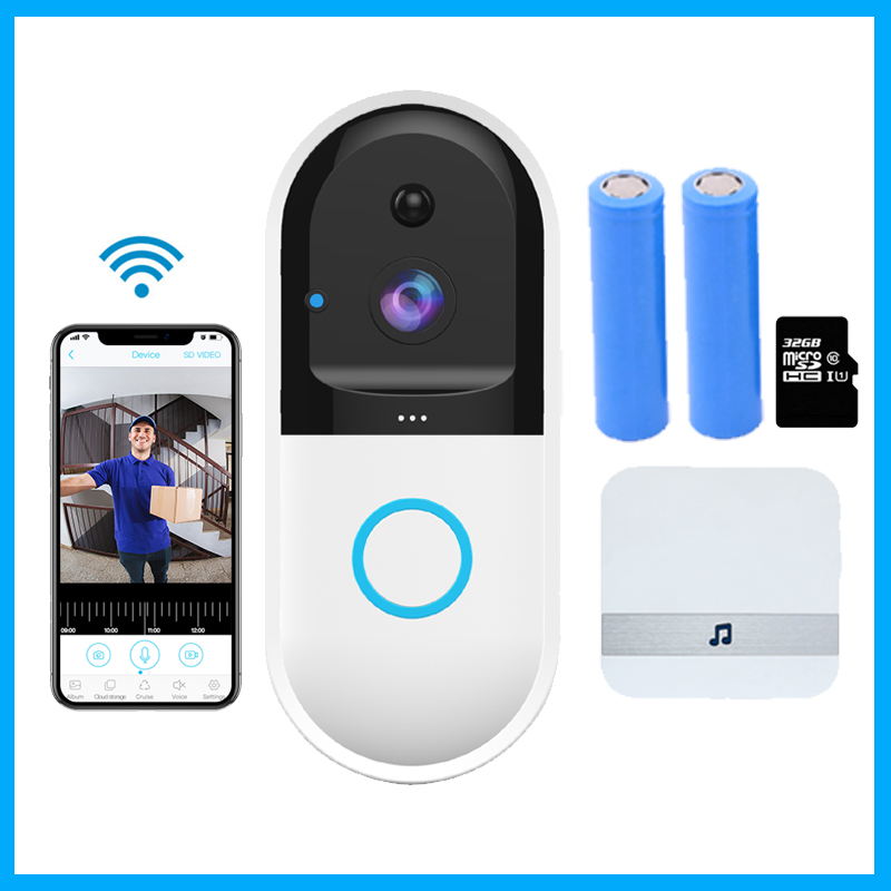 Smart IP Wireless Video Door Bell B50 Intercom WI-FI Video Phone WIFI Doorbell Camera Apartments FIR Alarm Home Security Cam