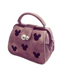 Vintage Shoulder Bag Cute Mickey Ladies Chic Doctor Bag Women Fashion Simple font b Handbag b