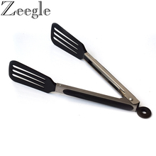 Zeegle Kitchen Food Tongs Barbecue Salad Grill Serving Tongs No-stick Food Clip Silicone BBQ Tongs Bread Clamp Cake Clip 12-Inch