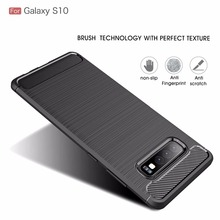 For Samsung Galaxy S10 Case Shockproof Carbon Fiber Soft Silicone Case for Samsung S10 Plus S10 Lite Protective Case Bumper