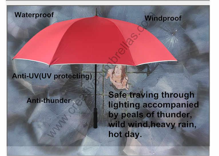 2 pz/lotto trasporto diametro 130 cm anti-tuono anti-ruggine in fibra di vetro auto open spalla cinture di tessuto di seta naturale rivestimento in argento ombrello da golf