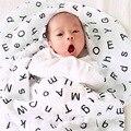 Preto branco fotografia adereços wikkeldeken inbakeren impressão envoltório musselina swaddle aden anais cobertor do bebê saco de dormir do bebê