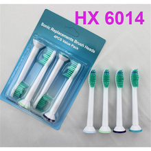 4000pcs HX6014 Sonic Replacement Head For Philips Sonicare Electric Toothbrush Heads Proresults Soft Bristles DHL Free
