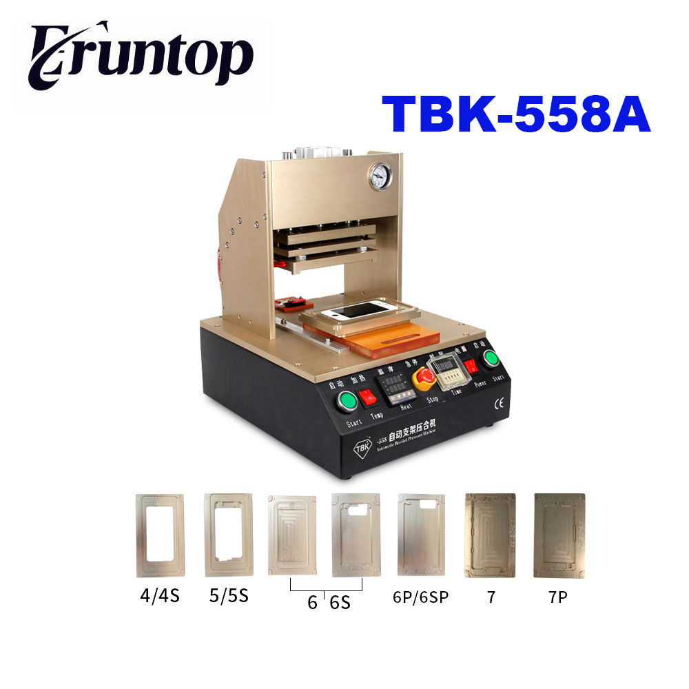 TBK-518 5in1 LCD Refurbish Machine Middle Bezel Separator/Frame Laminating Machine/Vacuum LCD Separator/Glue Remover / Preheater 3 in 1 multifunction preheater station middle bezel frame separator machine vacuum screen separator machine