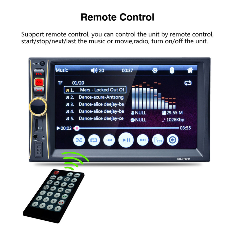 6.6 Inch HD Car MP3 MP4 MP5 Player Bluetooth Hands-free Reversing Priority without Camera 2DIN Car Stereo Audio MP5 Player ru 265bt car bluetooth hands free stereo mp3 player