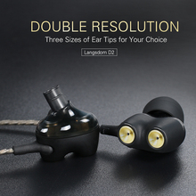 Dual Drivers In-ear Wired Earphone HiFi Earbuds Music Headset with mic Noise Canceling Earphones for iphone Huawei xiaomi D2