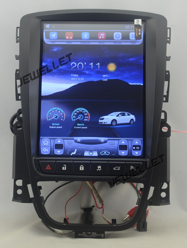 10.4 tesla style vertical écran android 6.0 Voiture GPS radio Navigation pour Opel Astra, Vauxhall Astra 2010-2015
