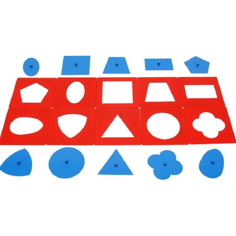 Bébé jouets Montessori matériaux professionnels qualité métal ensembles/10 petite enfance éducation préscolaire formes géométriques