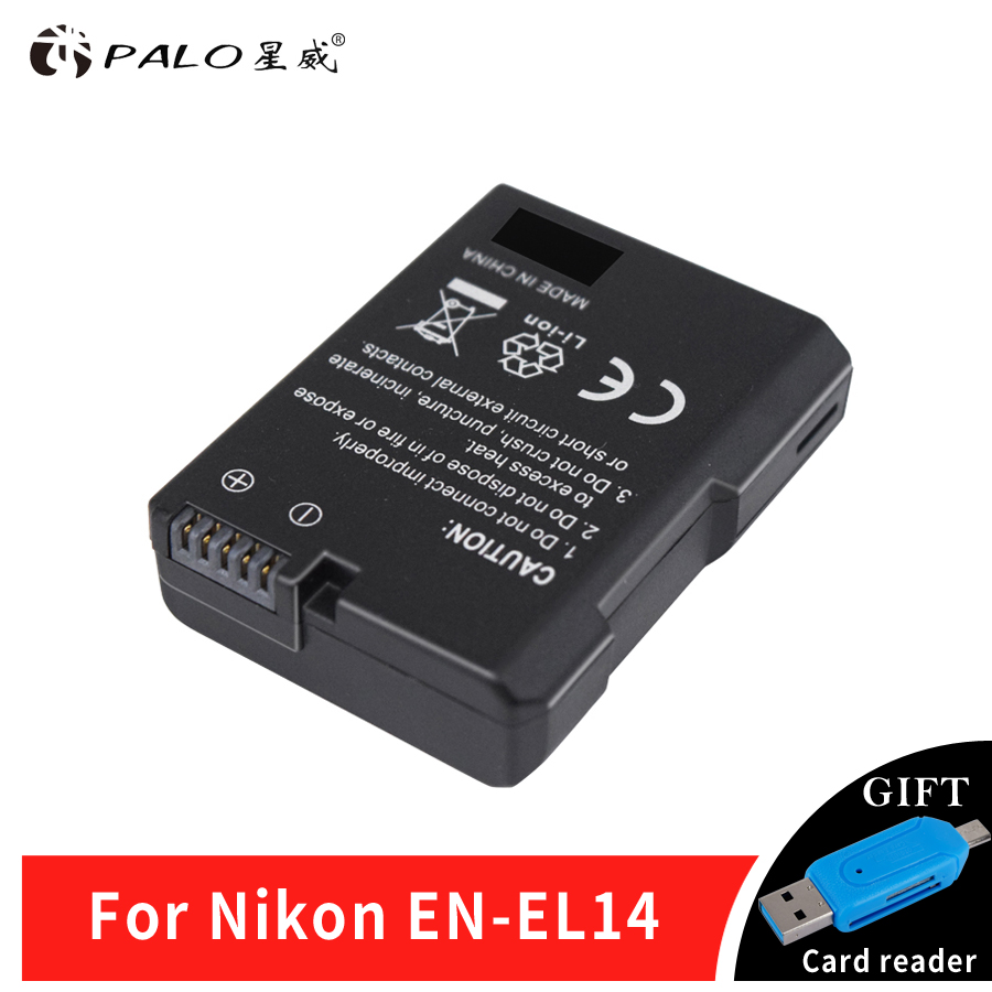 1Pcs EN-EL14 EN EL14 ENEL14 Camera Battery for Nikon D90 D300 D5300 D5200 D5100 D3300 D3200 D3100 for COOLPIX P7100 P7200 P7700