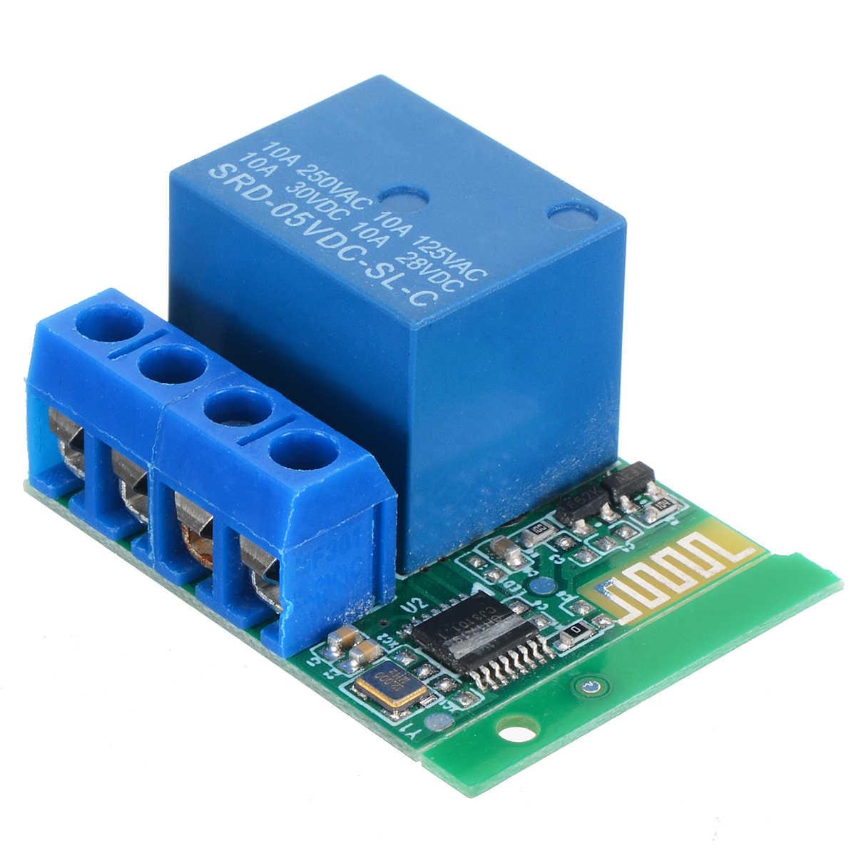 Bluetooth contrôle 1CH relais commutateur Bluetooth APP contrôle relais commutateur Module pour contrôle d'accès moteur lumière LED AC 220V