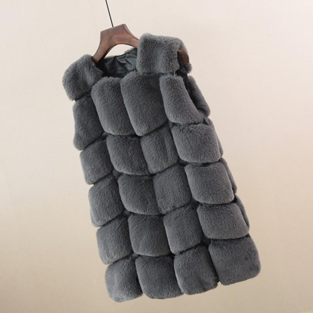 Manteau Bouton Black Casual Patchwork cou Femmes brown gray Gilet O Hiver Blue De Faux Mince dark burgundy Couvert Manches Grey Cardigan royal Fourrure Fox white taZZOqw