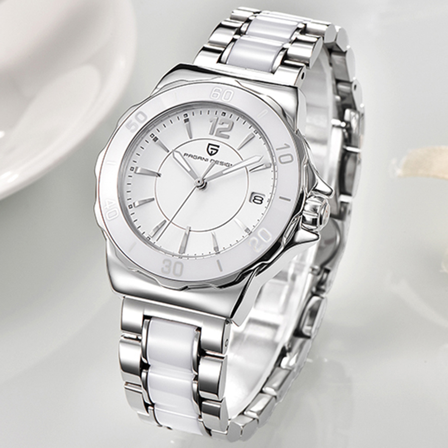 Dames Horloge PAGANI Top Brand New Fashion Vrouwen Analoge Quartz Horloge Vrouwelijke Keramische Horloges vrouwen Klok Relojes Mujer-in Dameshorloges van Horloges op  Groep 1
