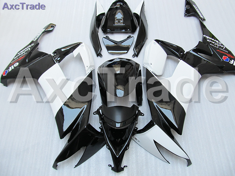 Moto Motorcycle Fairing Kit For Kawasaki Ninja ZX10R ZX-10R 2008 2009 2010 08 09 10 ABS Plastic Fairings fairing-kit White Black black moto fairing kit for kawasaki ninja zx14r zx 14r zz r1400 zzr1400 2006 2007 2008 2009 2010 2011 fairings custom made c549