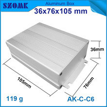 1 piece wall mounted aluminum extrusion case with heatsink junction housing 36*76*105mm