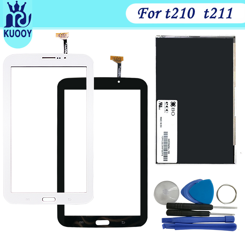 new t210 LCD Touch screen For Samsung Galaxy Tab 3 7.0 SM-T210 T211 Display Touch panel Digitizer Sensor Glass Lens Panel +tool стоимость