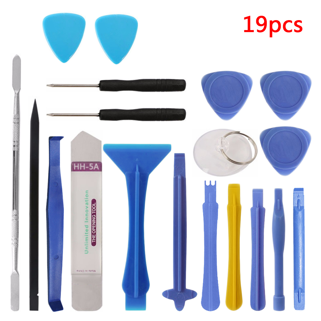 19 in 1 Opening Tool Metal Pry Bar Smartphone Screen Disassemble Tools Repair Tools Kit for iPhone Tablet PC Hand Tool Set