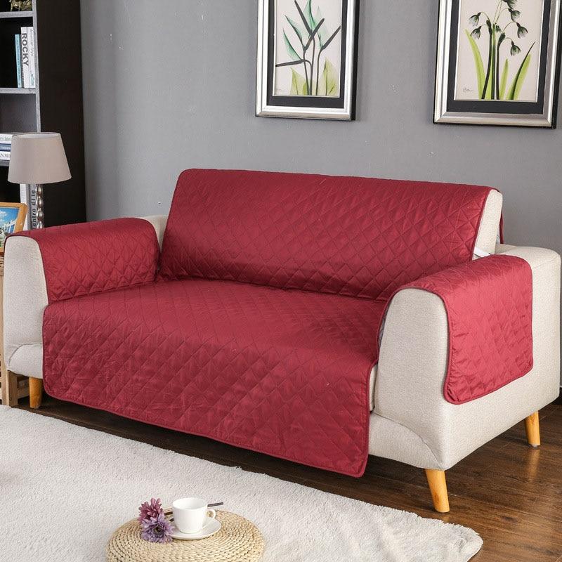 1 piezas de color sólido sofá cubierta capa lavable desmontable toalla apoyabrazos sofá cubre fundas perro solo dos /de tres plazas