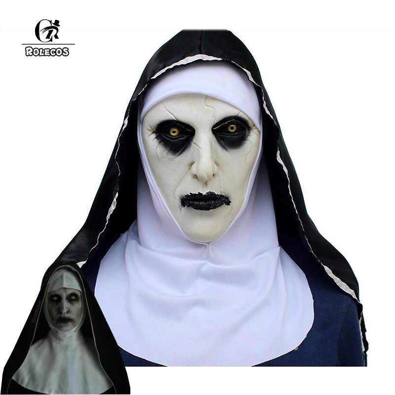 ROLECOS le Conjuring 2 masque la nonne Valak Cosplay masque Latex terreur horreur masques Halloween Costume accessoire pour hommes femmes