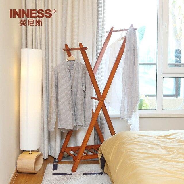 Innes madera dormitorio pasillo percha perchero de for Gabinete de almacenamiento para el dormitorio