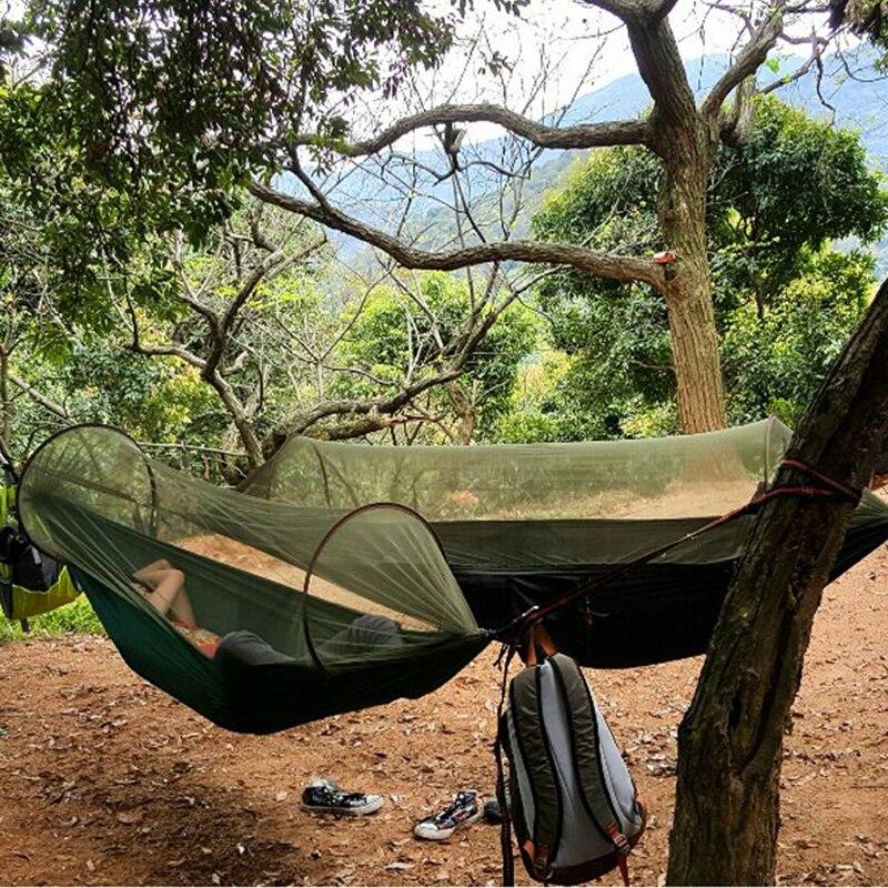 Hamac de survivant de Camping de hamac portatif polyvalent de 2 pesron avec le sac de substance de moustiquaire