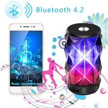 Горячая T-2323A мини беспроводной динамик Bluetooth 4,2 переносной стерео Динамик с микрофоном и Красочный Светодиодный свет Поддержка AUX USB TF карты